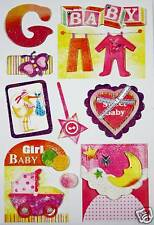 NEW 3D Sticker Scrapbook Embelishment  Baby Girl 5