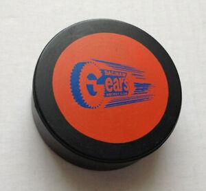 Vtg Saginaw Gears Hockey Club Puck IHL 70's WOW! Canada Generals Spirit Wendler