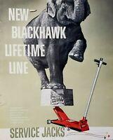 Lot of 3 Vintage 1939 1960 Blackhawk Hydraulic Service Jacks Print Ad Jungleland