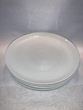 "6 Rosenthal Romance 10-3/8"" Dinner Plates White Wiinblad MARTHA STEWART Pedigree"