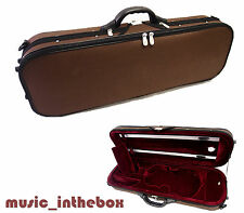 New Enhanced 1/2 Foamed/Oblong Shape Violin Case + Free 1/2 violin String