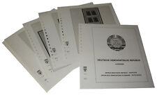 Lindner T-falzlos impreso RDA pequeños arcos 1977-1990 (t121k)