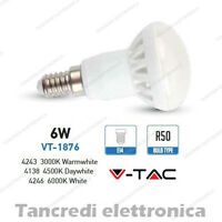 Lampadina led V-TAC 6W = 40W E14 VT-1876 R50 faretto spot bulb reflector lampada