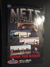 New Jersey Nets Final Game at IZOD Center Program NBA Brooklyn Meadowlands