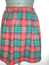 short knee length red & green tartan check skirt plus size 22 bnwot everyday