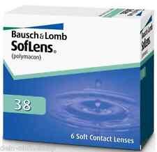 Soflens 38 Monatslinsen Bausch &Lomb 2x6 Minuswerte Contact Lenses Neu/ New!