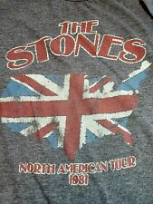 Vintage 1981 The Stones North America Tour men's Shirt Large Gray