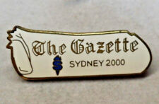 2000 SYDNEY THE GAZETTE MEDIA OLYMPIC PIN