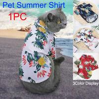 I pcs Small Dog Hawaiian Shirt Summer Pet Cat Puppy Clothes Bulldog  Apparel