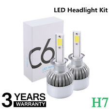 Car LED H7 Headlight Kit Bulbs 6000K 7200LM Xenon White C6 All In One Globes