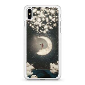 Dreamy Lush Elegant Moon Shooting Milky Way Stars Galactic Space Phone Case