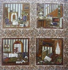 English Library Fabric Blocks quilt squares Woodrow Studio London England