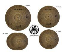 Agean Cymbals Natural Silent R-Series Low Volume Cymbal Pack Box Set + 18*Crash