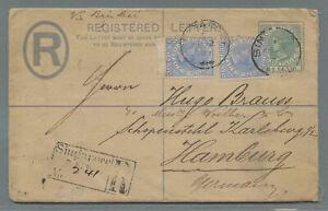 Singapore registered envelope bearing 24c + 8c (2) > Germany