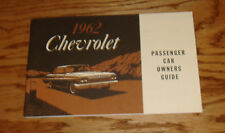 1962 Chevrolet Full Size Car Owners Manual 62 Chevy Impala Bel Air Biscayne