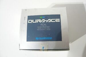 Shimano PD-7400 Dura Ace pedal and size L chrome plated toe clip set