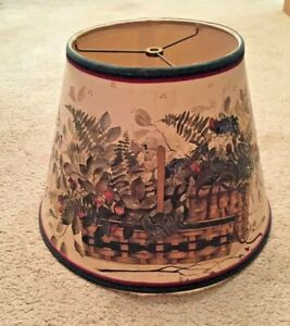 Table Light Lamp Cover Lampshade Accessory Farm House Country Home Decor 14x10""