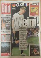 BILD Zeitung 8.07.2016 - DEUTSCHLAND - FRANKREICH 0:2 - Europameisterschaft 2016