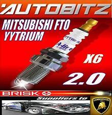 Se adapta a Mitsubishi FTO 2.0 Gr Gx 6A12 Brisk Bujías X6 YYTRIUM