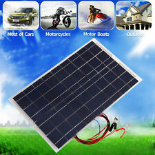 30W 12V Semi Flexible Solar Panel Battery Charger For RV Boat Home System