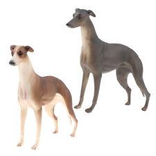 2pcs Greyhound Figurine Animal Sauvage Figure Jouets Simulation Décor À La