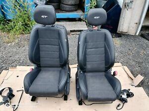PAIR OF FRONT BLACK SPORT SEATS WITH SEAT BELT IDEAL FOR VAN ,CAMPER VAN