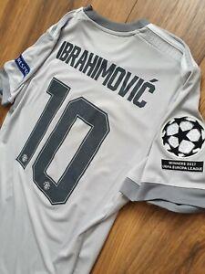 Adidas Manchester United Zlatan Ibrahimovic Away Football Shirt In Size Medium