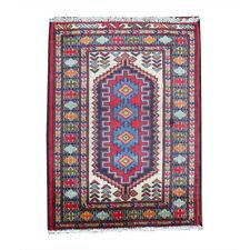 2x3 Unique Oriental Vintage Wool Handmade Traditional Carpet Geometric Area Rug
