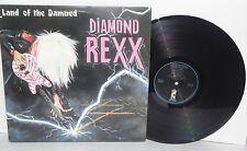 DIAMOND REXX Land of the Damned LP 1986 Island Records Heavy Metal Vinyl