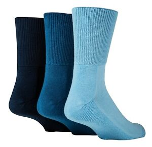 IOMI - 3 Pack Extra Wide Crew Bamboo Diabetic Socks   Mens & Womens
