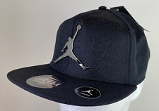 Nike Air Jordan Elephant Youth Snapback Hat Black Silver Logo 9A1623 023
