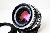 RARE Zebra Carl Zeiss Jena Pancolar Germany lens 50mm f/1.8 M42 mount EXC