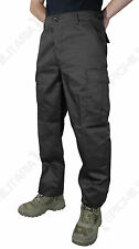 Black BDU Trousers - Army Military Tough Cargo Men's Pants New