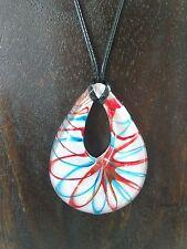 Halskette mit Anhänger aus Glas * TROPFEN * 1