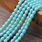New Arrival 30pcs 9X7mm Teardrop Shape Loose Spacer Glass Beads Light Lake Blue