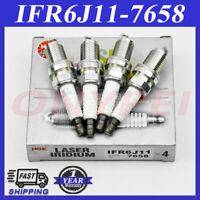 4x Iridium IFR6J11 7658 Spark Plugs Fits Suzuki Esteem 1.8 Grand Vitara XL-7 2.7