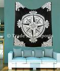 Compass Mandala Wall Hanging Indian Bohemian Tapestry Ombre Wall Decor Art