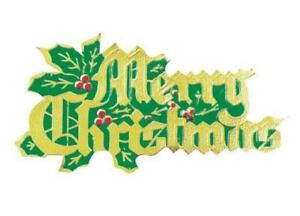 Merry Christmas Green And Gold Coloured Paper Motto Cake Decoration