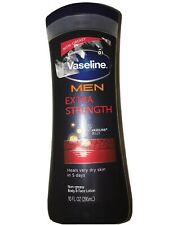 Vaseline Men Extra Strength Non-greasy Body & Face Lotion 10oz