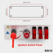 12V LED Ignition Switch Panel Engine Start Push Button Accessories For Racing