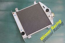 "21.5"" Aluminum Radiator Fit Ford hot rod chopped w/Chevy SB V8 engine 1930-1932"