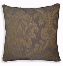 We303a Gray Mauve Damask Flower Chenille Throw Pillow Case/Cushion Cover*Size