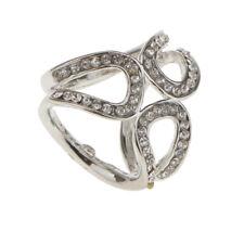 Women Elegant Crystal Rhinestone Scarf Ring Buckle Slide Clip Scarf Jewelry