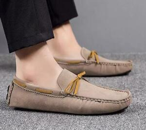 Mens Driving Moccasins Casual Shoes Pumps Slip on Soft Comfy Leisure Loafers