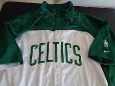 BOSTON CELTICS Basketball NIKE Team VINTAGE Snap Up Warm Up Shooting Shirt 3XL
