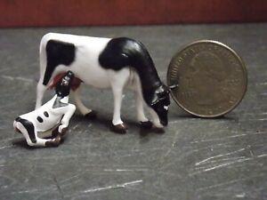 Dollhouse Miniature Cow & Calf Set Animals A13 1:48 Quarter Scale Dollys Gallery