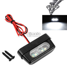 4 LED 12V Universal Motorcycle License Plate Light Plastic LED Tail Lights Emark