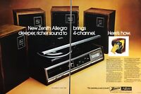1974 Zenith Allegro The Quadrille Model F736W Vintage Color Photo Print Ad