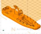 1/87 (HO) Military 3D Printed Riverine Patrol Boat V 2 with Armor