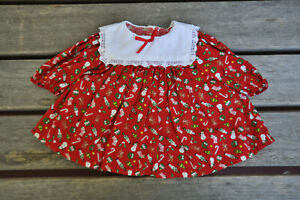 American Girl Doll Clothes - 1997 Bitty Baby Red Christmas Dress